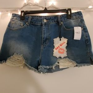 Rue21 distressed high waisted jean shorts